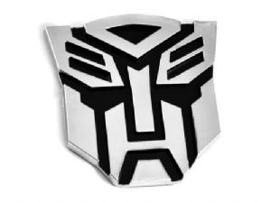Transformers Autobot 3D Chrome Car Emblem Decal Badge Sticker - MEDIUM SIZE 8.5cm